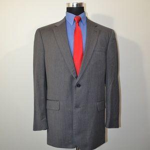 Jos A Bank 43R Sport Coat Blazer Suit Jacket Gray